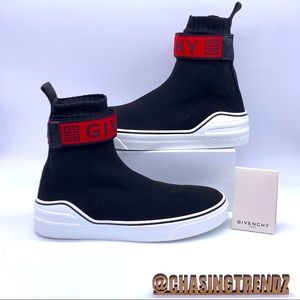 GIVENCHY Paris George V sock Black/Red Sneakers